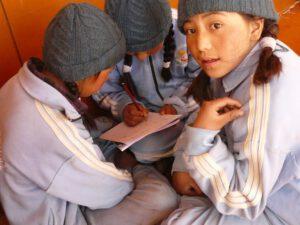 Schoolkinderen Ladakh