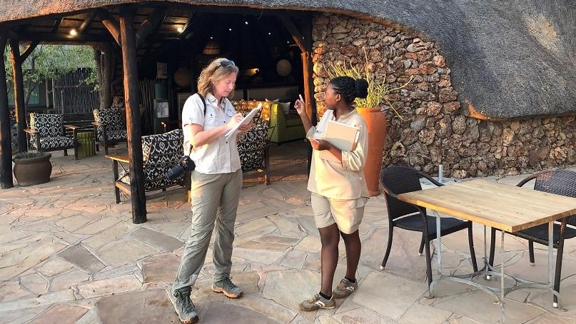Annemiek van Gijn, site inspection namibië