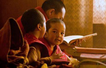 In het klooster Ladakh