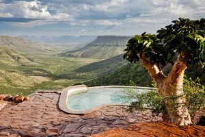 Grootberg Lodge, lodge met zwembad Namibië