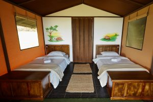 Interieur luxe lodgetent Galapagos Magic