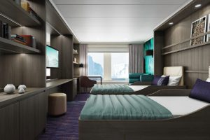 Hondius luxury cabin, oceanwide expeditions