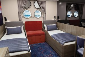 Hondius standard cabin, oceanwide expeditions