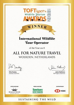 award duurzaam toerisme, duurzame touroperator