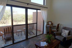 Cheetah View lodge kamer met balkon