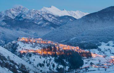 Civitella Alfedena in de sneeuw