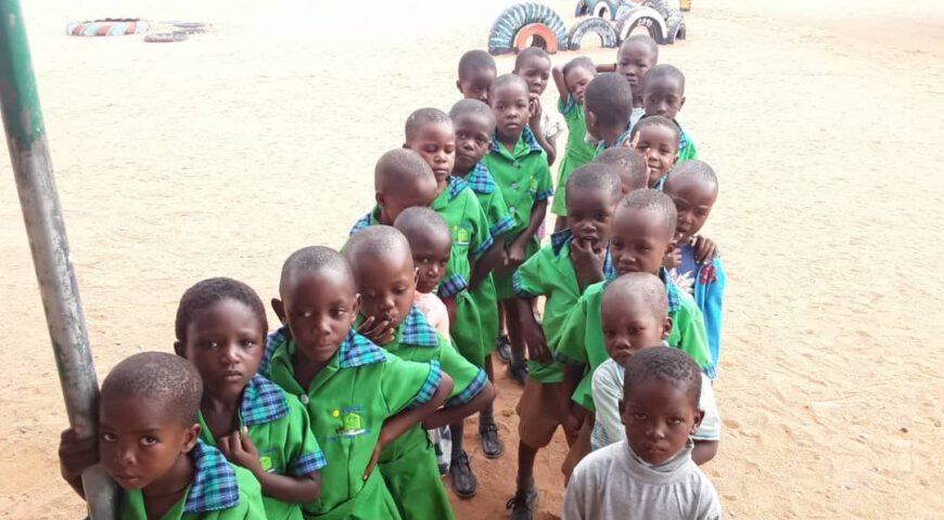 schoolkinderen Namibië