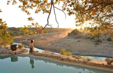 Meno-a-Kwena uitzicht vanaf het zwembad