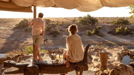Meno a Kwena uitzicht over Botetirivier