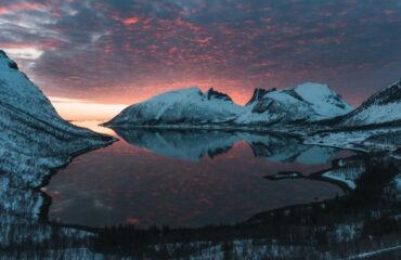 Zonsondergang Noord Noorwegen © Johan Vesters
