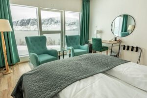 Arctic Panorama Lodge, haringtrek lodge, luxe lodge Noord Noorwegen, reis Lyngen Fjord